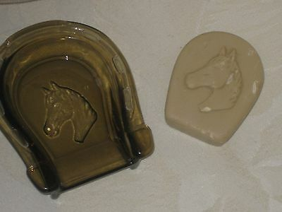 Vintage Avon Lucky Horse Shoe Soap Dish With Trazarra Soap