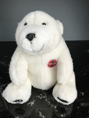 Collectible Vintage Coca Cola Plush White Polar Bear Stuffed Animal 1994