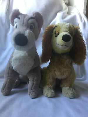"""Lady and the Tramp soft toys Plush Walt Disney Classic Film Toys Large 13"""" ��"""