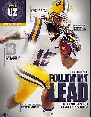 2014 Lsu Tigers Football Gameday Program - 9/13 Terrence Magee