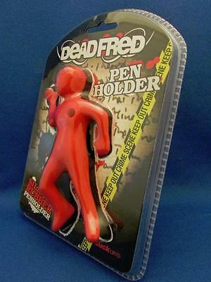 Quirky Dead Fred Pen Holder Fantastic Red Silicone Rubber Mystery Gift