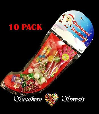 Christmas Stockings X 10 Packets 150G  Xmas Lollies Lollipops Ect Gluten Free