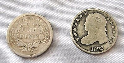 1829 Capped Bust Dime - 1840 Seated Dime Free Shipping