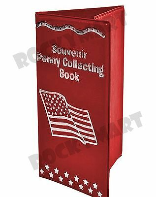 """6""""x3.5"""" Souvenir Penny Collecting Album Book for Pressed Pennies RM3434"""