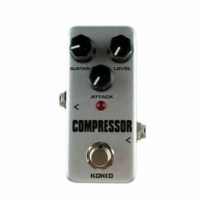 Aluminum Alloy FCP2 Mini Compressor Pedal Guitar Musical Instruments Effects OS