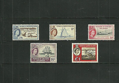 Stamps lot,English Colony,Turk ans Caicos, scott#131-135, cv +-$80,as scan