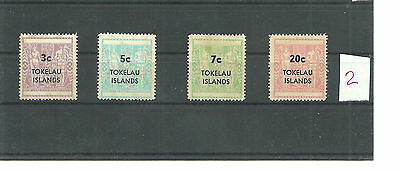 Stamps lot,Tokelau scott#12-15,set,Postal Fiscal Type of New Zealand,Surcharged2