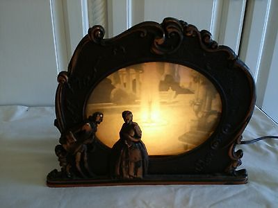 1931 SCENE IN ACTION FOUNTAIN OF YOUTH MOTION LAMP Cast Metal Very Good Cond
