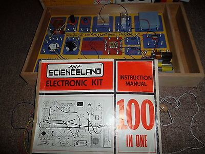 Rare Vintage Scienceland Electronic Projects Kit. 100 Projects In 1 Kit!
