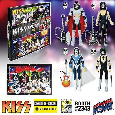 KISS Unmasked 3 3/4-Inch Action Figures Deluxe Box Set Comic-Con Exclusive