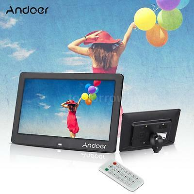 "10.1"" Full HD Digital Photo Frame Picture Clock Video Player with Remote Control"