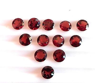 11.30 Cts 12 Pcs Natural Garnet Round Cut Lot Loose Gemstone Size 6 MM H-917