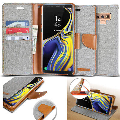 GOOSPERY® Slim Jacket leather wallet Book Case Cover for iPhone XS/Galaxy S9/V30