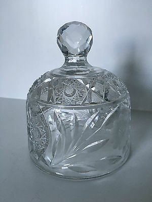 Antique American Brilliant Cut Crystal Cheese/butter Dome