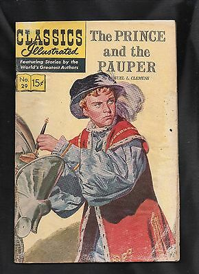 Classics Illustrated #29 Poor  Hrn167 (Prince And The Pauper) Samuel L. Clemens