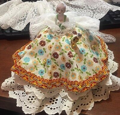 Pin Cushion dolls with new pretty Dress - price for 1 doll