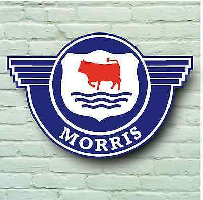 Morris Minor Badge Logo 2Ft Large Garage Sign Wall Minor British Classic Car