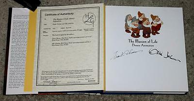 """Rare Mint Author Autographed """"the Illusions Of Life"""" Disney Animation Book-Wow!!"""
