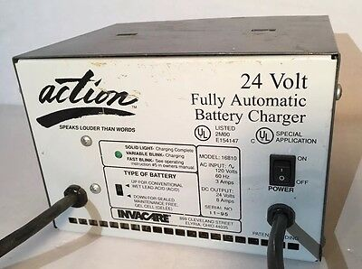 ACTION 24 Volt Wheelchair Battery Charger INVACARE 16810