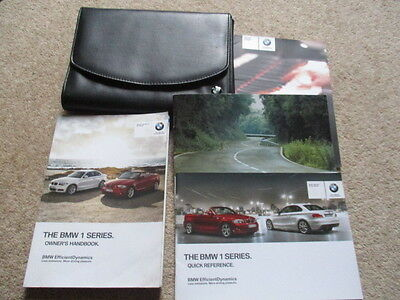Bmw 1 Series Coupe & Convertible  Owners Hanbooks Manuals & Wallet 2011 -13