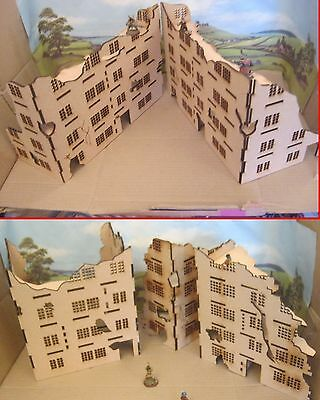 28mm Large Wargame Ruins set A,B,C&D Factory House Scenery Building Bolt Action