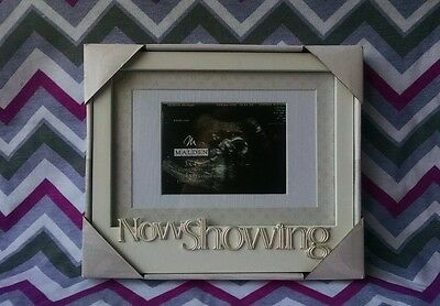 NOW SHOWING Baby's First Photo Picture Frame SONOGRAM For Expecting Mom Babies