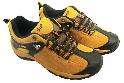 HIKING - WALKING SHOES waterproof camping trail shoe - Colours: CAMEL or KHAKI