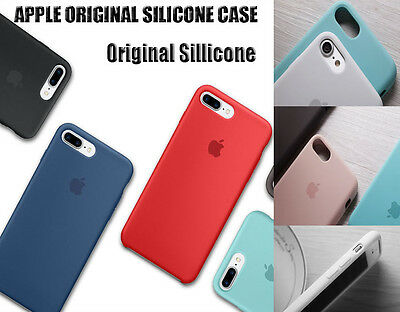 Original Silicone Cover Ultra-Thin Case For Apple iPhone 8 X/6S Plus/7/5S SE