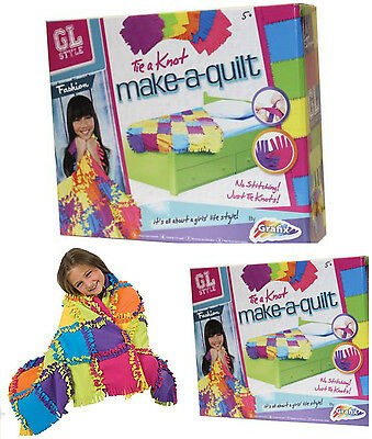 Tie A Knot Make Your Own Quilt Patchwork Blanket No Tools Needed Childrens Craft