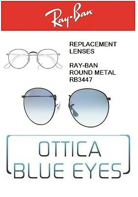 5f3a71c42e Lenti di Ricambio RAYBAN ROUND METAL RB3447 Replacement Lenses Ray Ban 3F  BLUE