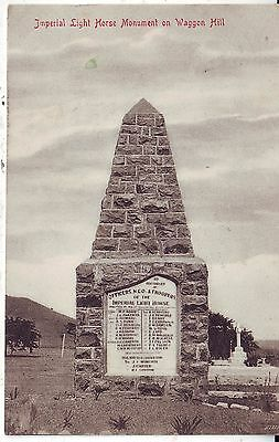 South Africa Waggon Hill - Imperial Light Horse Monument 1908 postcard