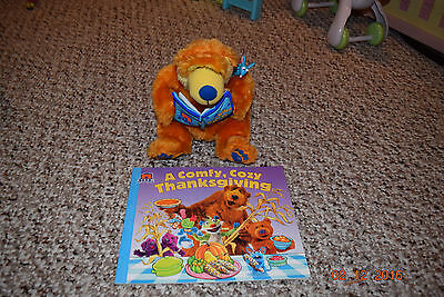 bear in the big blue house talking and moving plush and 2 qty  books