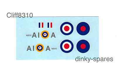 Dinky-Spares | Dinky 719/741 Spitfire MK11 A1 | A Squadron | Waterslide Transfer