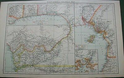 1895 West Africa Colonial Map The Slave Coast The Times Victorian Antique Map