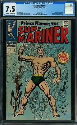 SUB-MARINER #1 CGC 7.5 Big Premiere Issue! Story continued from Iron Man & Sub#1