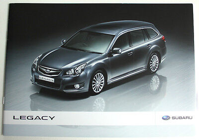 SUBARU Legacy brochure/leaflet UK - 2010 (& price list)