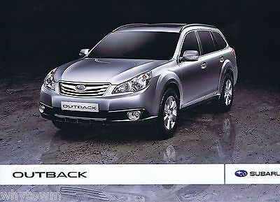 SUBARU Outback brochure/leaflet UK - 2010