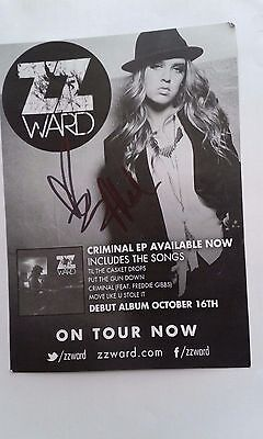 ZZ Ward Concert Schedule From KFOG private concert at studio Autographed