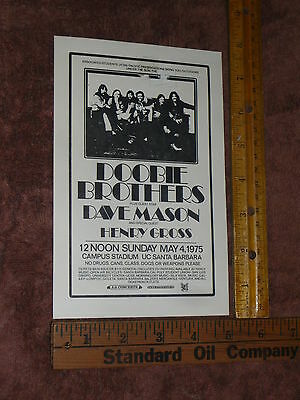 Vintage Doobie Brothers and Joe Walsh Flyer from Pacific Presentations As Seen