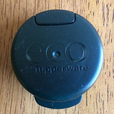 Tupperware Black Eco Water Bottle Flip Top Lid for 36 oz Bottle Replacement NEW