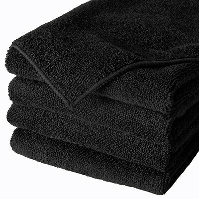 "24 Microfiber 400GSM Professional 16""x27"" Salon Towels (Black)"