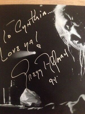 The Fillmore Concerts CD The Allman Brothers Band Autographed By Gregg Allman 94