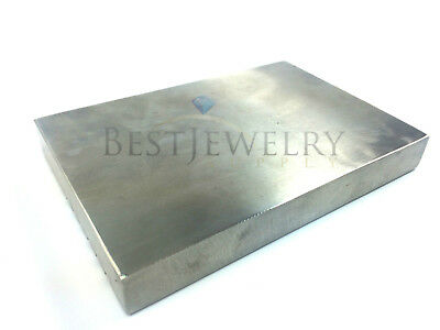 """Block Double Sided Jewelry Working Anvil Bench Tool Machinist 6""""x4""""x3/4"""""""