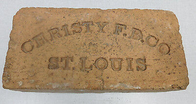 Christy F.B. Company St. Louis orange brick paver