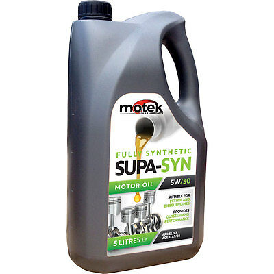 5 Litre Motek 5W/30 Super-Syn Fully Synthetic Engine Oil