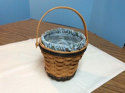1999 Longaberger May Series Daisy Basket - Fabric Liner & Plastic Liner