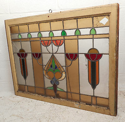 Vintage Stained Glass Window Panel (0207)NJ