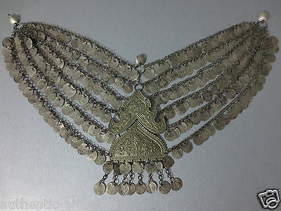 WOW! Antique SILVER Ottoman Folklore Coins Necklace Ornament from 19th Century