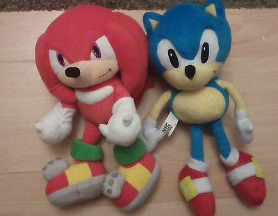 Sega Sonic The Heagehog And Knuckles Official Collectable Soft Plush Toys Sega