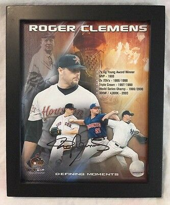 """Roger Clemens Defining Moments"""" Rocket Man"""" Signed Picture"""
